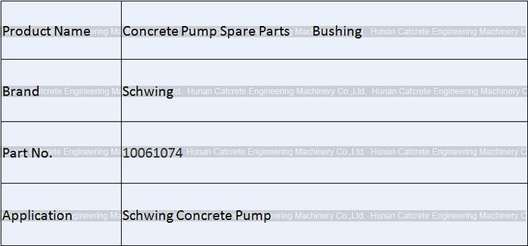 Schwing Concrete Pump Support 10061074 - Schwing Concrete